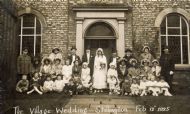 Mock Wedding 13/2/1925 at The Methodist Chapel in Main Street.
